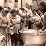 Крещение младенцев в нашем храме.